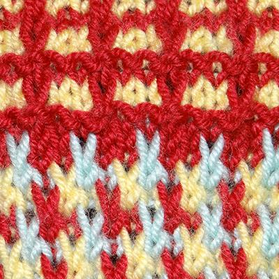 53/21 Mosaik-und Web-Stricken